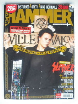 Metal Hammer magazine - Ville Valo cover (October 2005)
