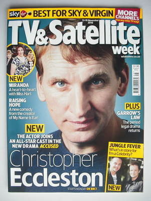 TV&Satellite Week magazine - Christopher Eccleston cover (13-19 November 20