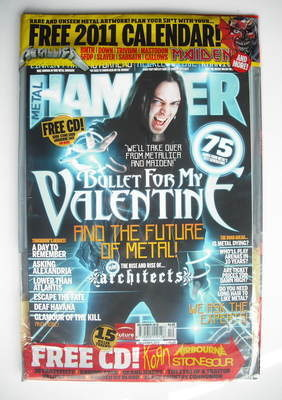 <!--2010-12-->Metal Hammer magazine - Bullet For My Valentine cover (Decemb