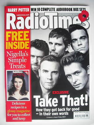 <!--2010-11-13-->Radio Times magazine - Take That cover (13-19 November 201