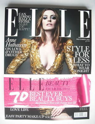 <!--2010-12-->British Elle magazine - December 2010 - Anne Hathaway cover