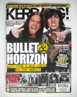 <!--2010-12-04-->Kerrang magazine - Matt Tuck and Oli Sykes cover (4 Decemb
