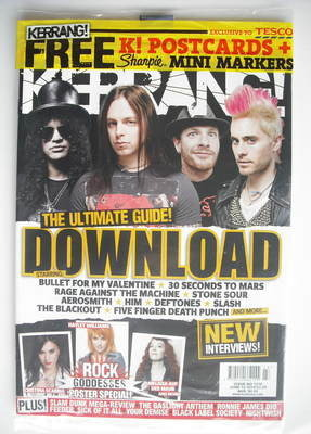 <!--2010-06-12-->Kerrang magazine - Download cover (12 June 2010 - Issue 13