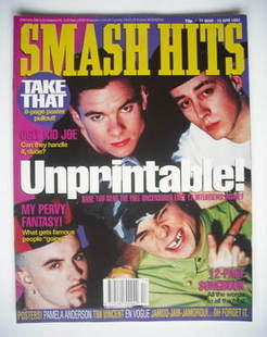 <!--1993-03-31-->Smash Hits magazine - East 17 cover (31 March - 13 April 1