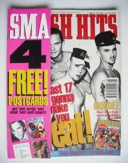 <!--1993-06-23-->Smash Hits magazine - East 17 cover (23 June - 6 July 1993