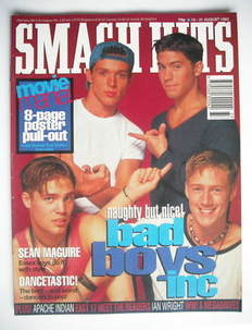 <!--1993-08-18-->Smash Hits magazine - Bad Boys Inc cover (18-31 August 199
