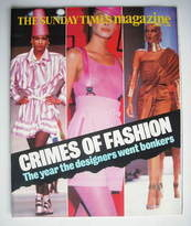 <!--1988-01-03-->The Sunday Times magazine - Crimes Of Fashion cover (3 Jan