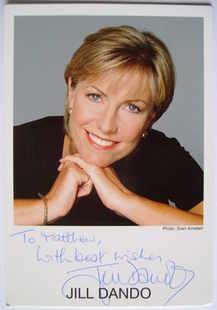Jill Dando autograph