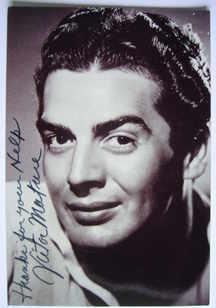 Victor Mature autograph