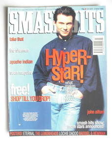 <!--1993-10-27-->Smash Hits magazine - Christian Slater cover (27 October -