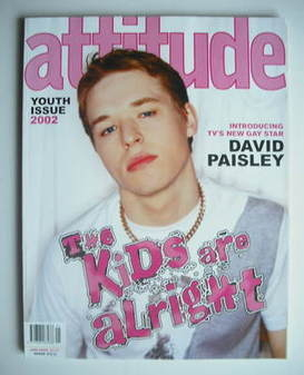 <!--2002-01-->Attitude magazine - David Paisley cover (January 2002)