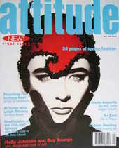 <!--1994-05-->Attitude magazine - Boy George cover (May 1994 - First Issue)