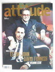 <!--2005-12-->Attitude magazine - Elton John and David Furnish cover (Decem