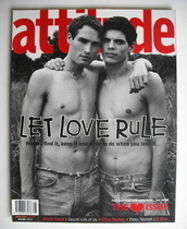 <!--2001-08-->Attitude magazine - Let Love Rule cover (August 2001)
