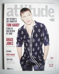<!--2008-12-->Attitude magazine - Tom Hardy cover (December 2008)
