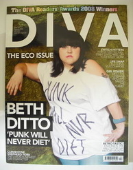 Diva magazine - Beth Ditto cover (February 2008)