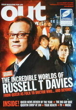 <!--2009-01-->Out magazine - Russell T Davies cover (January 2009)