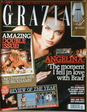<!--2007-01-01-->Grazia magazine - Angelina Jolie cover (1 January 2007)