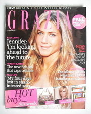 <!--2005-02-14-->Grazia magazine - Jennifer Aniston cover (14 February 2005