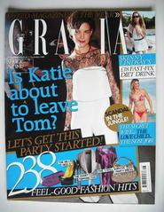 <!--2008-12-01-->Grazia magazine - Katie Holmes cover (1 December 2008)