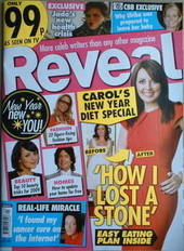 Reveal magazine - Carol Vorderman cover (10-16 January 2009)