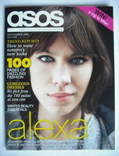 asos magazine - November 2008 - Alexa Chung cover