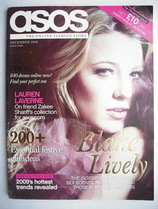 asos magazine - December 2008 - Blake Lively cover