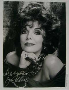 Joan Collins autograph