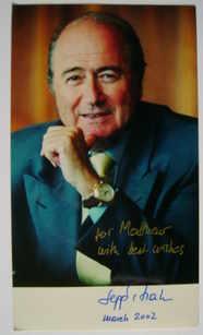 Sepp Blatter autograph