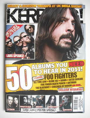 <!--2011-01-01-->Kerrang magazine - Dave Grohl cover (1 January 2011 - Issu