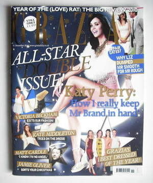 <!--2010-12-31-->Grazia magazine - Katy Perry cover (31 December 2010)
