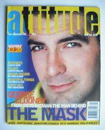 Attitude magazine - George Clooney cover (June 1996)