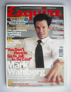<!--2003-09-->Esquire magazine - Mark Wahlberg cover (September 2003)