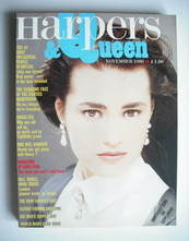 <!--1986-11-->British Harpers & Queen magazine - November 1986 - Yasmin Le