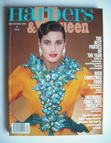 <!--1988-12-->British Harpers & Queen magazine - December 1988 - Yasmin Le