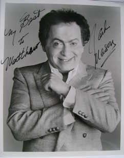Jackie Mason autograph