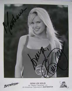 Gena Lee Nolin autograph (hand-signed photograph, dedicated)
