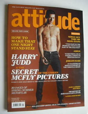 <!--2011-02-->Attitude magazine - Harry Judd cover (February 2011)