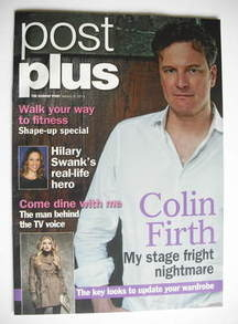 Post Plus magazine - Colin Firth cover (9 January 2011)
