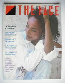 The Face magazine - Sade cover (November 1985 - Issue 67)