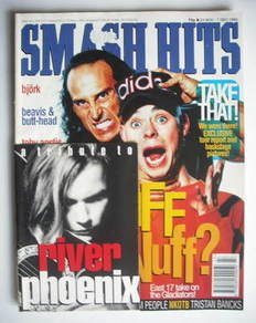 <!--1993-11-24-->Smash Hits magazine - Brian Harvey and Wolf cover (24 Nove