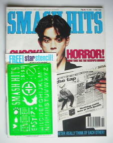 <!--1994-01-19-->Smash Hits magazine - Robbie Williams cover (19 January -