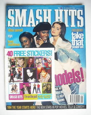 <!--1994-01-05-->Smash Hits magazine - Eternal cover (5-18 January 1994)