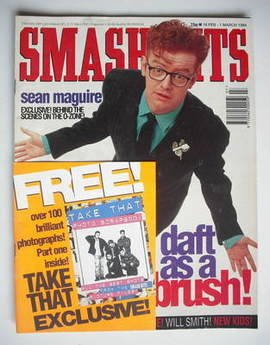 <!--1994-02-16-->Smash Hits magazine - Chris Evans cover (16 February - 1 M