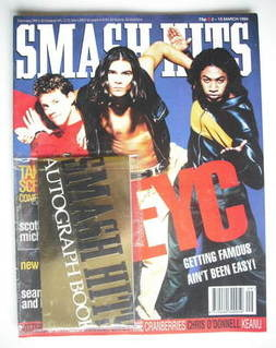 <!--1994-03-02-->Smash Hits magazine - EYC cover (2-15 March 1994)