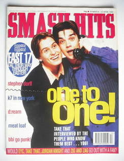 <!--1994-03-30-->Smash Hits magazine - Robbie Williams and Mark Owen cover