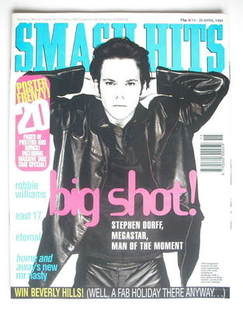 <!--1994-04-13-->Smash Hits magazine - Stephen Dorff cover (13-26 April 199