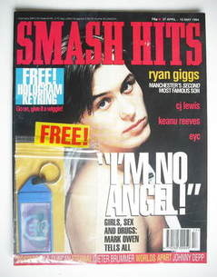 <!--1994-04-27-->Smash Hits magazine - Mark Owen cover (27 April - 10 May 1