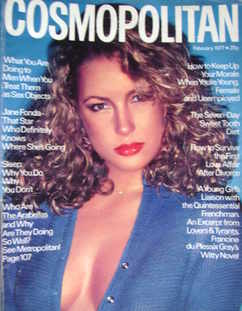 Cosmopolitan magazine (February 1977 - Sarah Langenfeld cover)