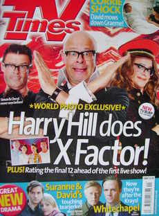 <!--2010-10-09-->TV Times magazine - Harry Hill cover (9-15 October 2010)
